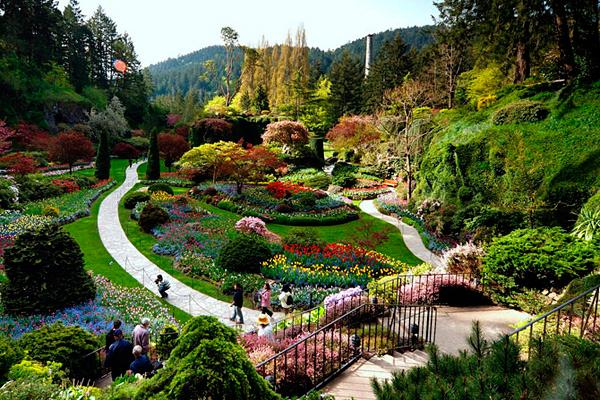 Исторический парк Бутчарт (The Butchart Gardens) Канада
